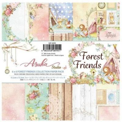 Asuka Studio Memory Place Forest Friends Designpapier - Paper Pack